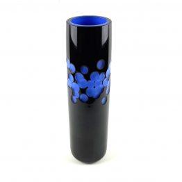 Überfangvase Rubin delftblau