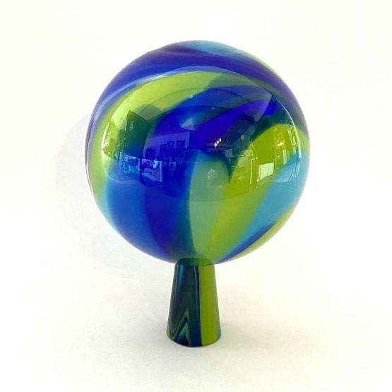 Gartenkugel grün-blau