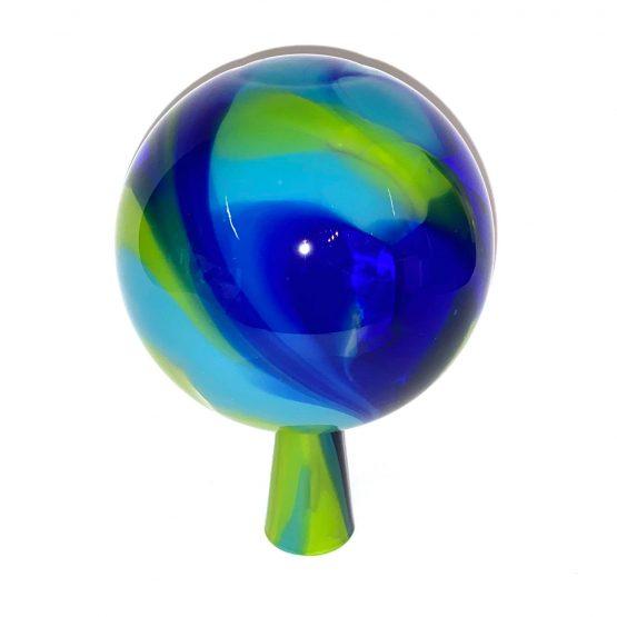 Gartenkugeln türkis-blau, grün 1