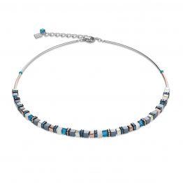 Halskette Swarovski® Kristalle Edelstahl roségold Hämatit