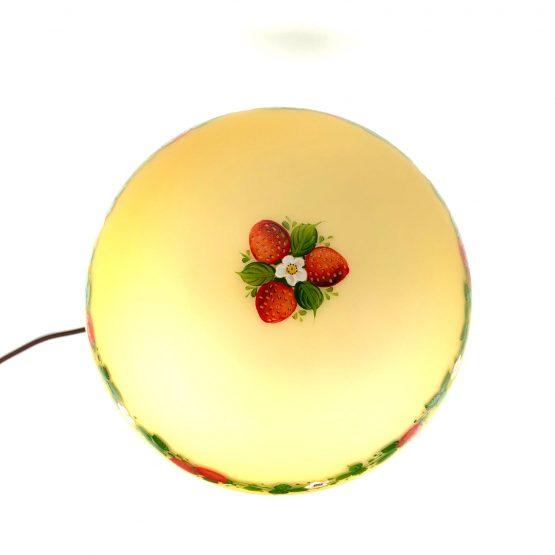 Pilzlampe Erdbeeren oben