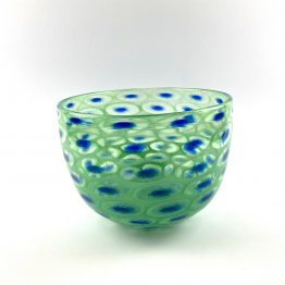 Schale Pfauenauge grün-blau