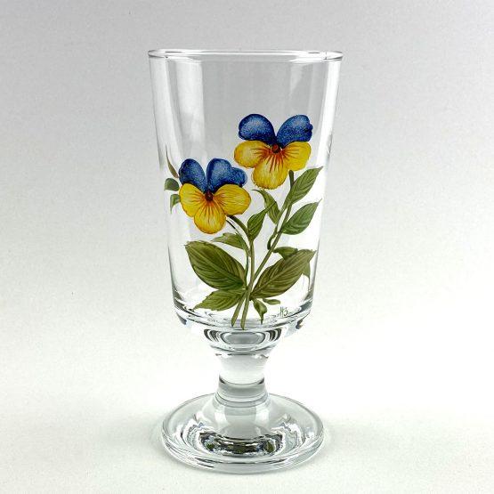Universalglas Veilchen blau-gelb