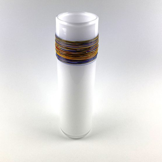 Vase Opalweiß
