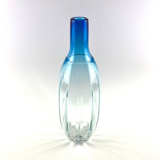 Vase blau transparent