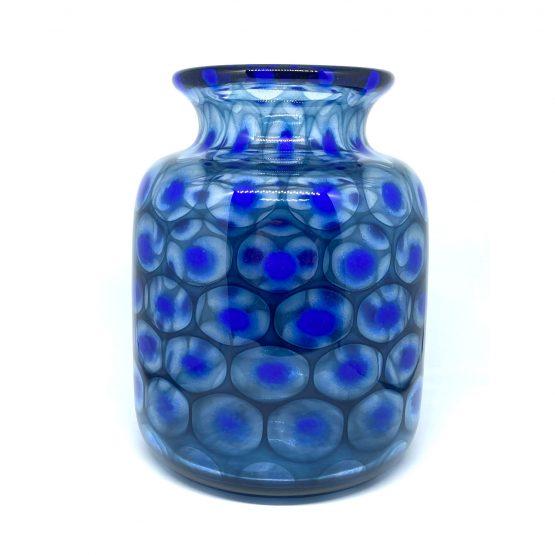 Vase mundgeblasen kobaltblau nachtblau