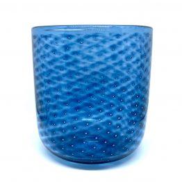 Vase perloptisch stahlblau