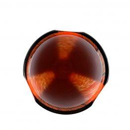 Vase Überfang rubinrot oben