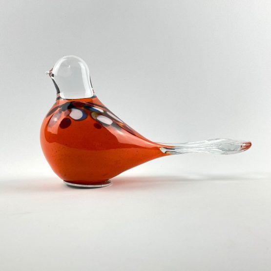 Beet-Gartenstecker Vogel orange
