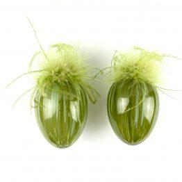 Federn-Eier-Set grün