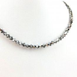 Schmuck- Ketten aus Swarovski®Kristallen anthrazit groß