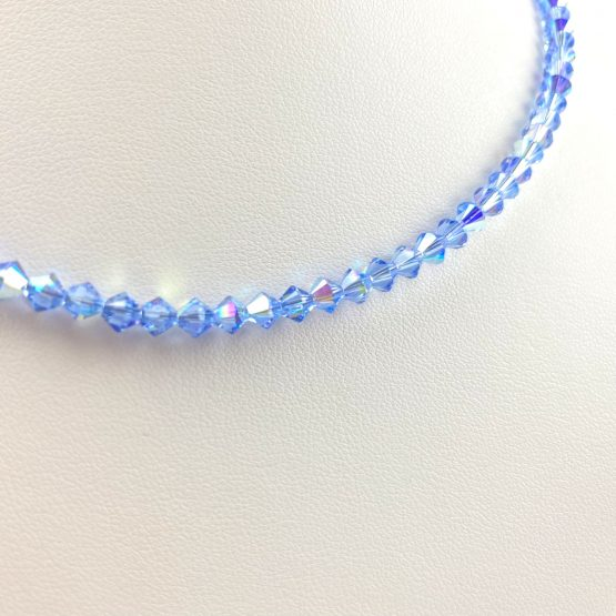 Schmuck- Ketten aus Swarovski®Kristallen hellblau groß