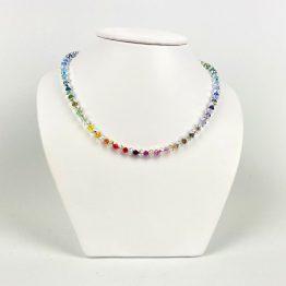 Schmuck- Ketten aus Swarovski®Kristallen kristallbunt