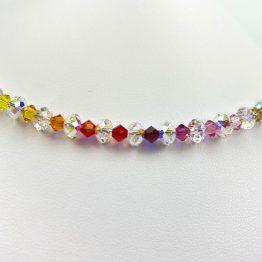 Schmuck- Ketten aus Swarovski®Kristallen kristallbunt groß