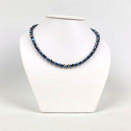 Schmuck- Ketten aus Swarovski®Kristallen metallisch blau