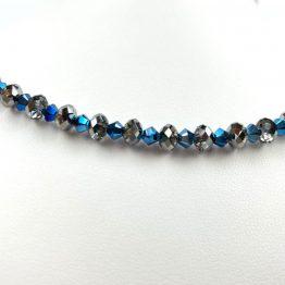 Schmuck- Ketten aus Swarovski®Kristallen metallisch blau groß