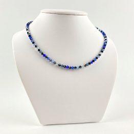 Schmuck- Ketten aus Swarovski®Kristallen schwarz blau