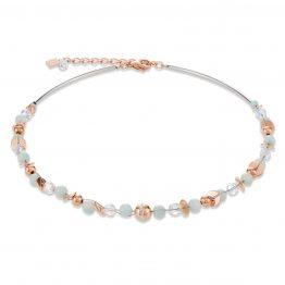 Halskette Amazonit, Kristallen, roségold