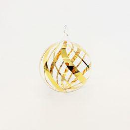 Kristallkugel mundgeblasen, Goldmalerei Dekor Twist