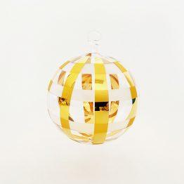 Kristallkugel zum Hängen mit Glasöse und 24 Karat Vergoldung