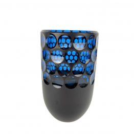 Vase Kugelschliff aquamarin Kupferrubin
