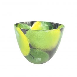 Schale Apfel gelb-grün, schwarz