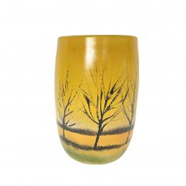 Vase orange-gelb