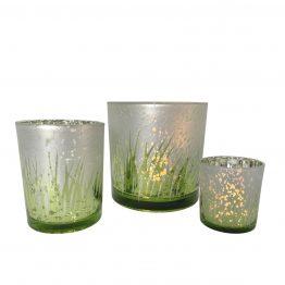 Green Gras Windlichter