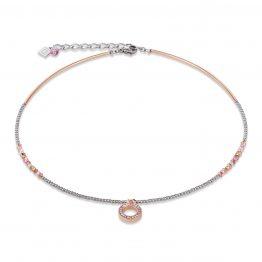 Halskette ring klein pave rose kristall