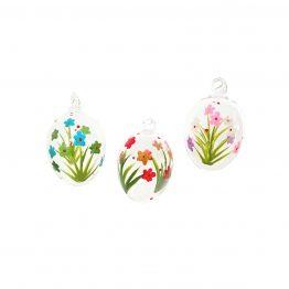 handbemalte Ostereier mit Blüten im 6er Set