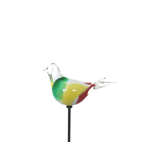 Vogel grün-gelb-rot