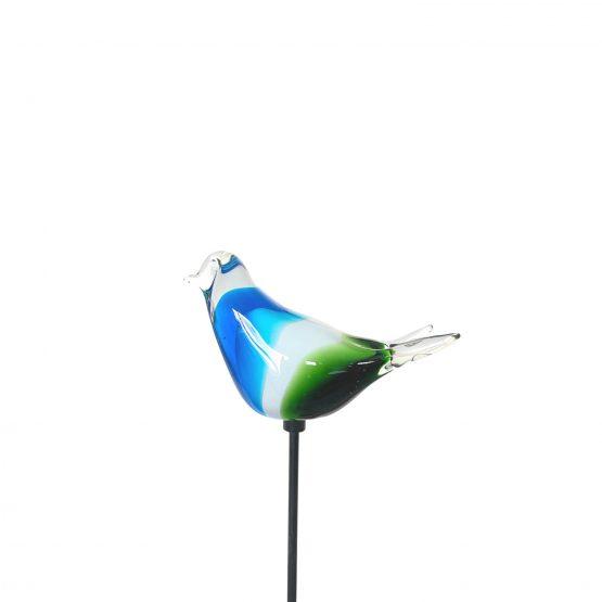 Vogel blau weiß grün