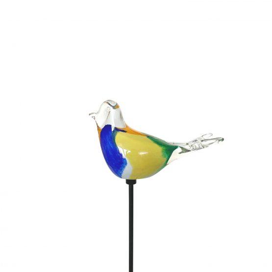 Vogel gelb blau-grün orange