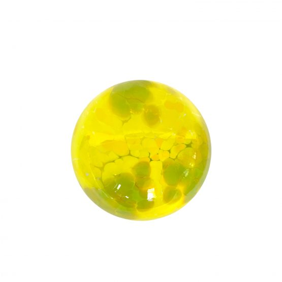 Kugel von oben kanariengelb-grün