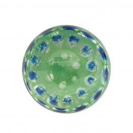 unten grün-blau Pfauenauge-Vase