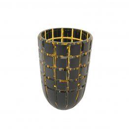 Vase Keilschliff Überfang