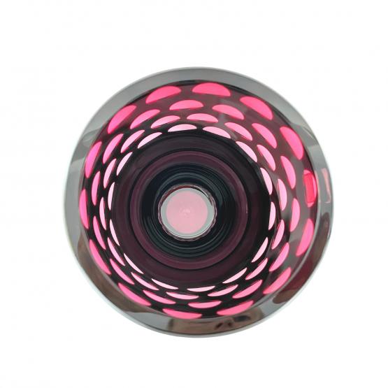 Vase oben Kugelschliff rosa