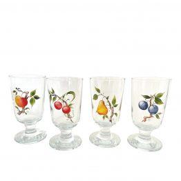 handbemalte Gläser mit Früchten